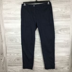 Nordstrom Signature Navy Ankle Crop Pants